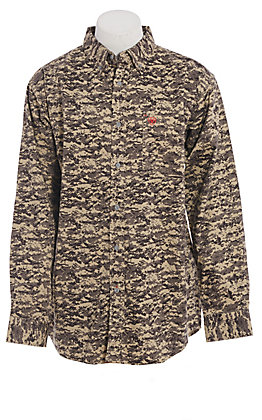 Ariat FR Men's Patriot Sage Digi Camo Long Sleeve Work Shirt
