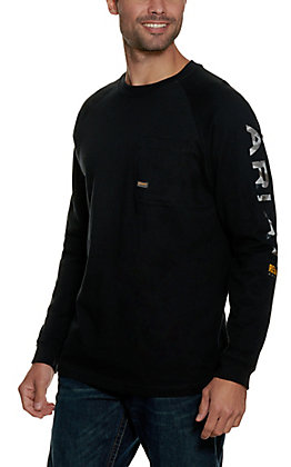 Ariat Rebar Men's Black Long Sleeve Graphic T-Shirt