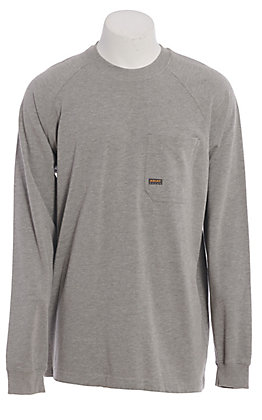 Ariat Rebar Men's Grey Long Sleeve T-Shirt