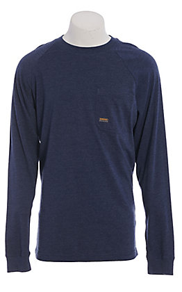 Ariat Rebar Men's Heather Blue Long Sleeve T-Shirt