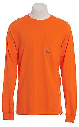 Ariat Rebar Men's Safety Orange Long Sleeve T-Shirt