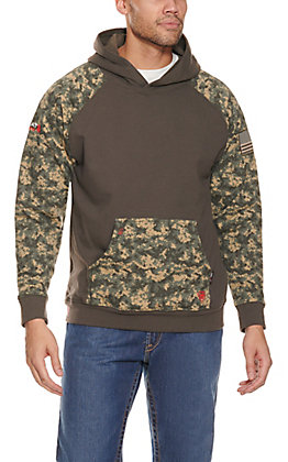 Ariat Men's Sage Digi Camo DuraStretch Patriot FR Work Hoodie