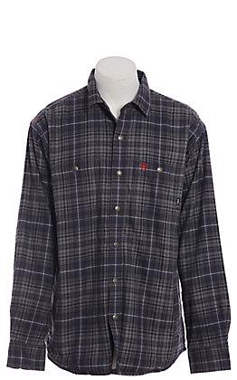 Ariat FR Monument Men's Grey Plaid Snap Shirt Jacket