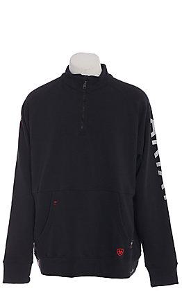 Ariat Men's Black Primo Fleece Logo 1/4 Zip FR Work Pullover
