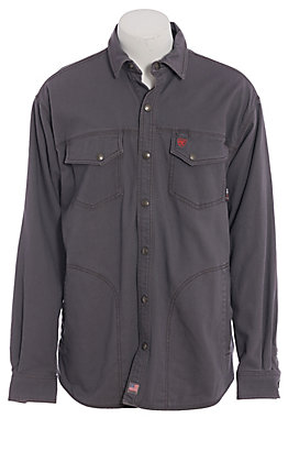 Ariat Men's Iron Gray Rig Long Sleeve FR Work Shirt Jacket