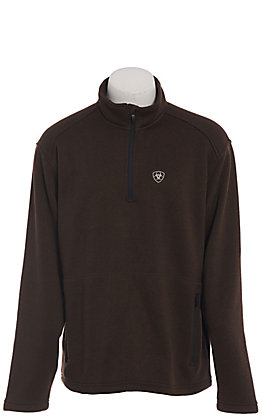 Ariat Men's Dark Brown 1/4 Zip Softshell Pullover