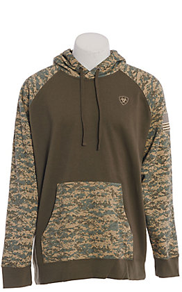 Ariat Men's Sage Camo Patriot Long Sleeve Hoodie