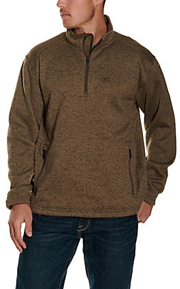 Ariat Men's Light Brown 1/4 Zip Softshell Pullover