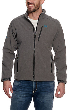 Ariat Men's Logo 2.0 Grey & Blue Softshell Jacket