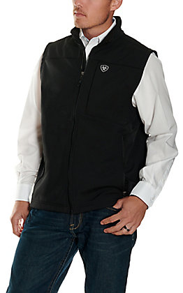 Ariat Men's Black Logo Softshell Vest