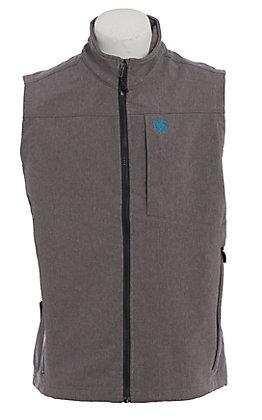 Ariat Men's Heather Grey Logo Softshell Vest