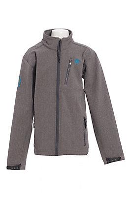 Ariat Boys' Grey Logo Softshell Jacket