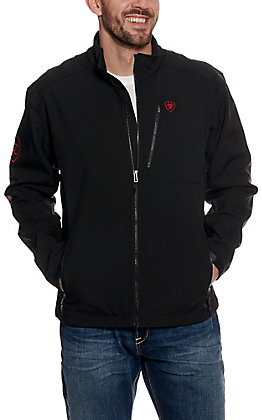 Ariat Men's Black & Red Logo 2.0 Softshell Jacket