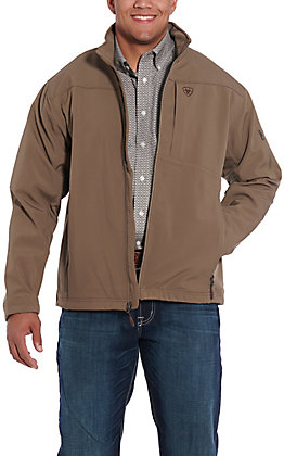 Ariat Men's Brown Softshell Full Zip Jacket