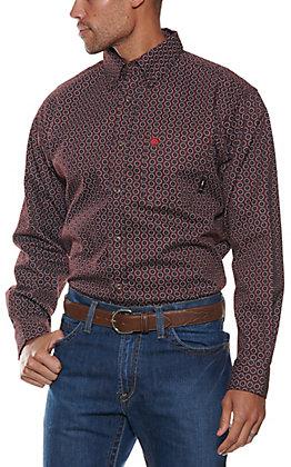 Ariat Men's Cavender's Exclusive Flame Resistant Caiden Garnet Work Shirt