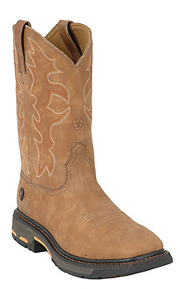 Ariat Men's WorkHog Rugged Bark Wide Square Toe Work Boot