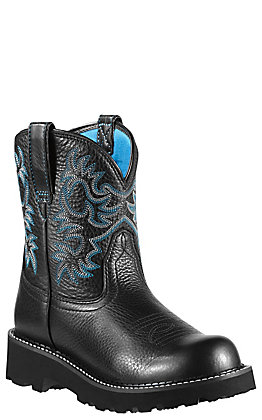 Ariat Fatbaby Ladies Black Deertan Boots