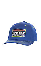 Ariat Youth Blue Patch Logo Velcro Back Cap