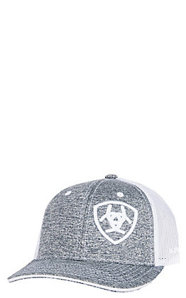 Ariat Youth Heather Grey Logo Cap