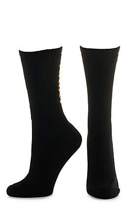 Ariat Men's Black Crew 3Pk Boot Socks (Medium)