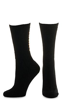 Ariat Men's Black Crew 3Pk Boot Socks (X-Large)