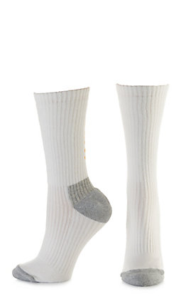 Ariat Men's White & Grey Crew 3Pk Boot Socks (Large)