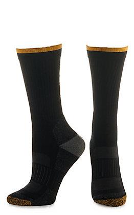 Ariat Work Black TEK Series High Performance Unisex Crew Socks (Large)