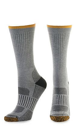 Ariat Work Grey TEK Series High Performance Unisex Crew Socks (Large)