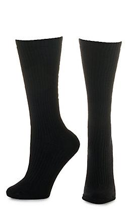 Ariat Men's Black Mid Calf 3Pk Boot Socks (Medium)