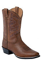 Ariat Youth's Brown Oiled Rowdy Legend Square Toe Boots
