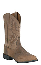 Ariat Men's Tumble Brown & Beige Heritage Stockman Boots