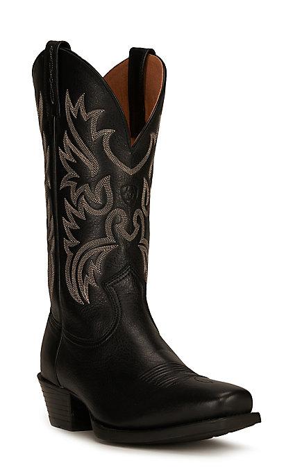5f752d974c0 Ariat Legend Men's Black Deertan Punchy Square Toe Western Boots