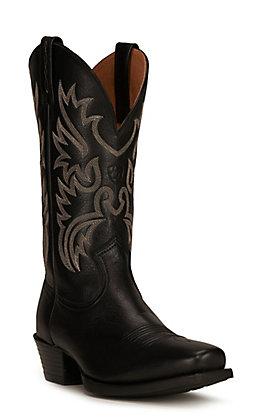 Ariat Men's Legend Black Deertan Punchy Toe Western Boot
