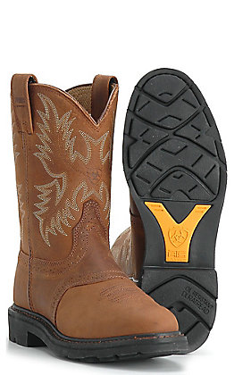 Ariat SierraSaddle Work Western Boot - Aged Bark
