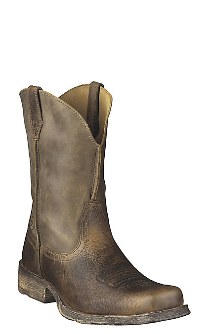 ca97770a2c2 Ariat Rambler Men's Brown Bomber Wide Square Toe Western Boots