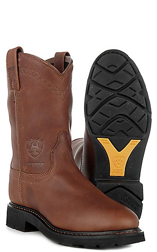 Ariat Mens Sierra Slip-on Waterproof Workboots - Sunshine | Cavender's