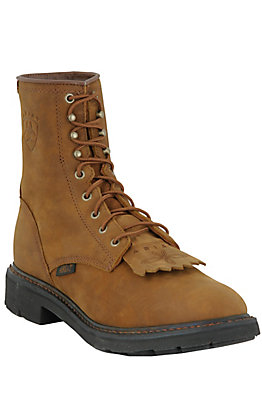 Ariat Men's Cascade Aged Bark Round Toe Lace Up Work Boot