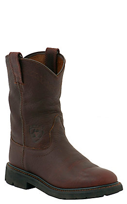 Ariat Sierra Men's Tobacco Round Soft Toe Work Boots