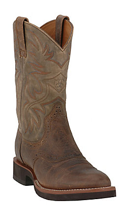 Ariat Men's Earth & Brown Bomber Heritage Crepe Sole Round Toe Western Boots