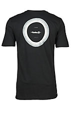 Hurley Men's Short Sleeve Logo Black Dri Fit Compass T-Shirt