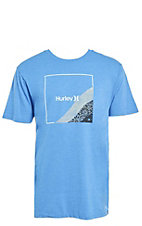 Hurley Men's Premium Fader Photo Blue Short Sleeve Logo Tee