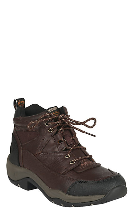 0f43e2b5 Ariat Terrain Women's Chocolate Brown Cordovan Lace Up Hiker Boots Casual  Shoes