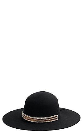 Abilene Sequin & Crystal Beaded Hat Band/Wrap