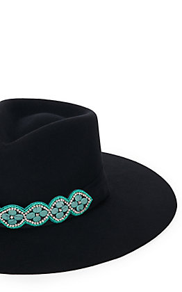 Tulsa Turquoise Beaded Hat Band/Wrap