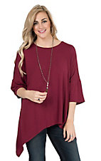 James C Women's Ruby Dolman Style 3/4 Sleeve Fashion Tunic Top