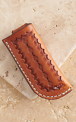 Vik Leather Sheaths Arizona Oil Tanned Leather Hand Made Stamp Tooled Knife Sheath