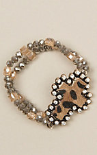 Ashlyn Rose Two Strand Leopard Bracelet