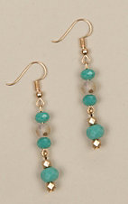 Ashlyn Rose Turquoise Matching Bead Earrings