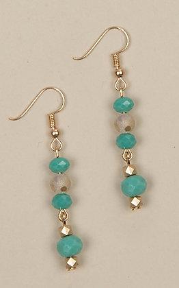 Ashlyn Rose Turquoise Matching Bead Earrings