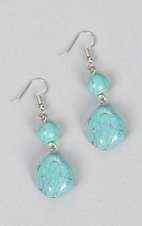 Ashlyn Rose Silver and Turquoise Bead Earrings